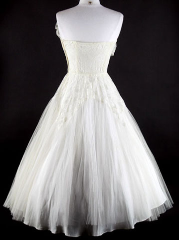 Dress Fashion on 50s Tulle Strapless Prom Wedding Party Dress