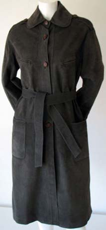 70s Gucci Suede Leather Coat